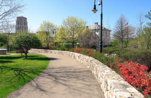 The Linear Trail in Kellogg House Park in Battle Creek, MI